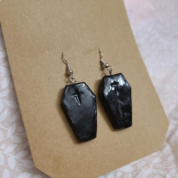 handmade Jewelry - Coffin Earrings